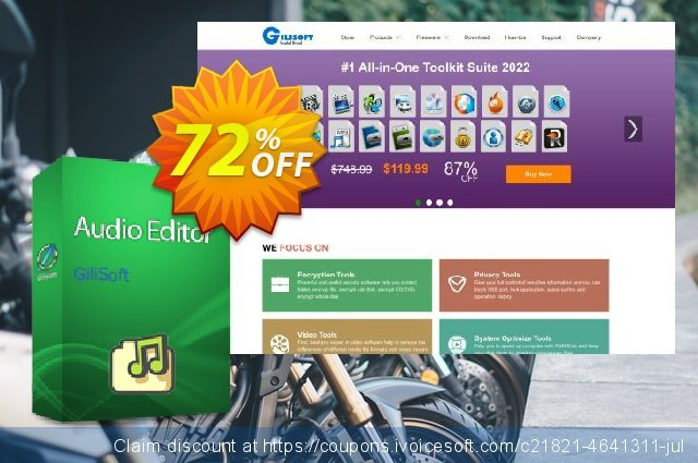 GiliSoft Audio Editor - Lifetime/3 PC discount 72% OFF, 2020 Fourth of July discounts