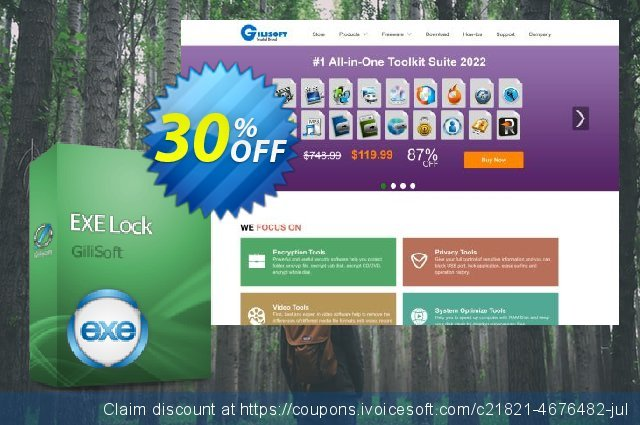 GiliSoft EXE Lock - 3 PC/Lifetime discount 30% OFF, 2019 Thanksgiving Day offering discount