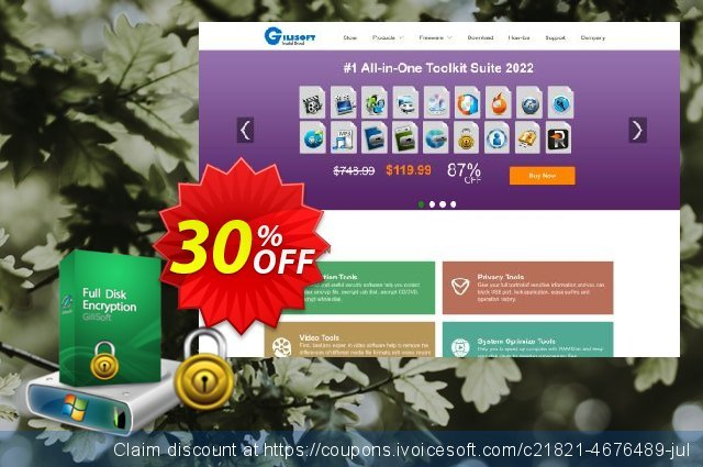 GiliSoft Full Disk Encryption discount 30% OFF, 2020 July 4th promo sales