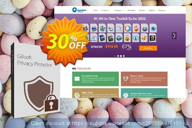 Gilisoft Privacy Protector discount 30% OFF, 2020 Exclusive Student discount offering sales