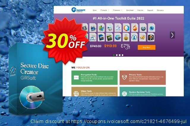 Gilisoft Secure Disc Creator discount 30% OFF, 2020 College Student deals sales
