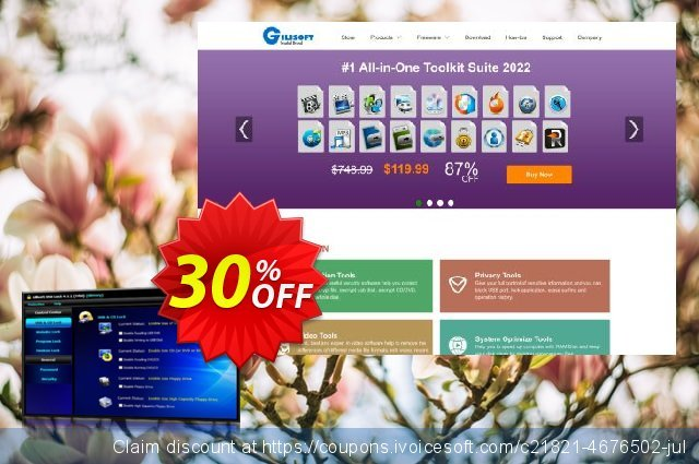Gilisoft USB Lock discount 30% OFF, 2019 Thanksgiving offering sales
