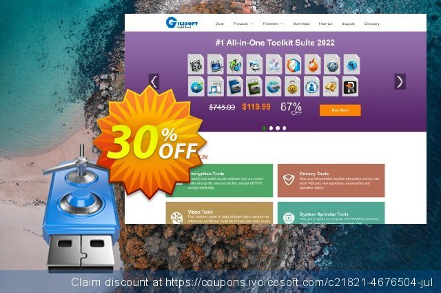 Gilisoft USB Encryption discount 30% OFF, 2020 July 4th discount