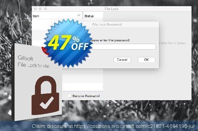 GiliSoft File Lock for MAC Lifetime 特殊 销售折让 软件截图