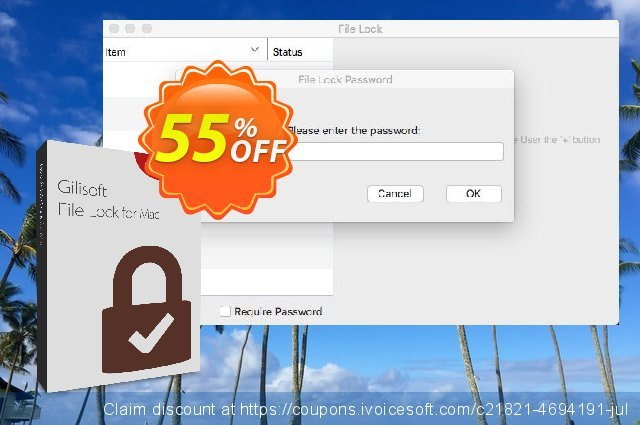 GiliSoft File Lock for MAC discount 30% OFF, 2019 Thanksgiving Day offering sales