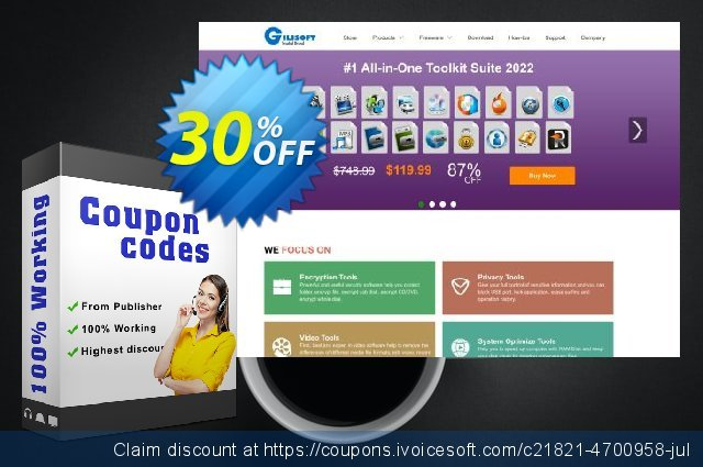 Gilisoft Video Cropper discount 30% OFF, 2019 Thanksgiving promo