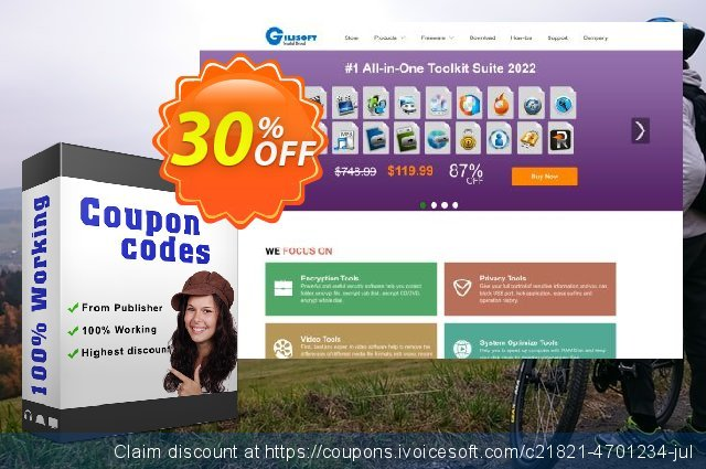 Gilisoft Add Watermark to Video discount 30% OFF, 2021 Earth Hour offering sales
