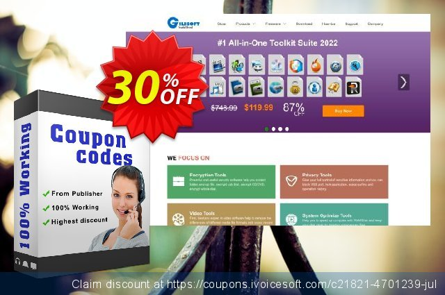 Gilisoft Video Effect - 3 PC / Lifetime discount 30% OFF, 2020 Happy New Year offering sales