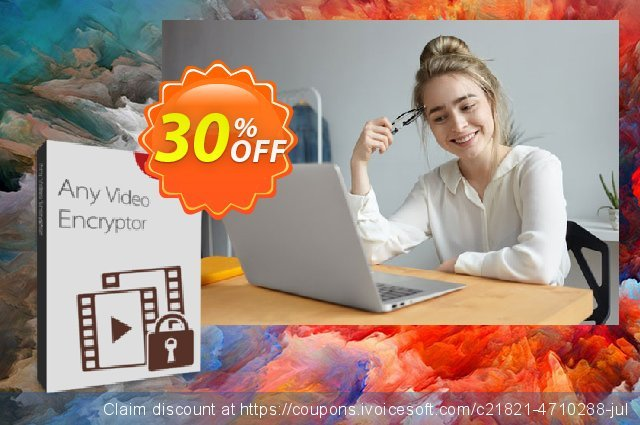 Any Video Encryptor 1 PC/1 Year discount 30% OFF, 2020 Summer offering sales