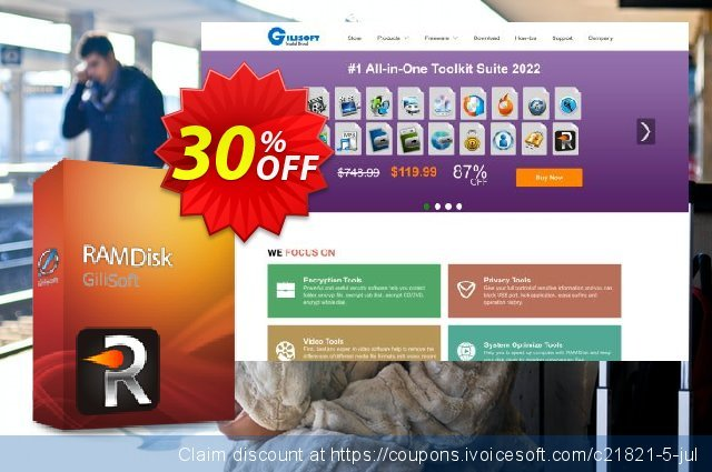 GiliSoft RAMDisk discount 30% OFF, 2021 Labour Day discount