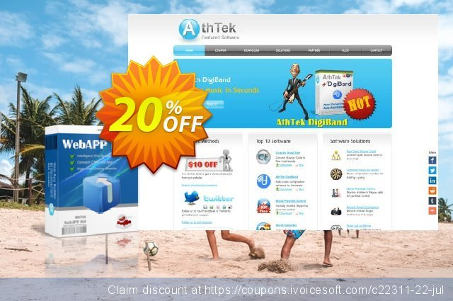 AthTek WebAPP Kit discount 20% OFF, 2020 4th of July offering sales