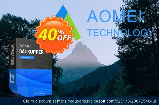 AOMEI Backupper Workstation + Lifetime Upgrades discount 30% OFF, 2021 New Year's Weekend offering sales