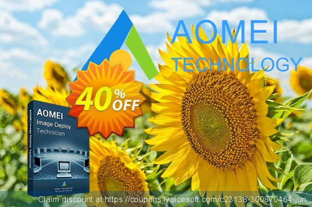 AOMEI Image Deploy Technician discount 30% OFF, 2021 Women Day offering sales