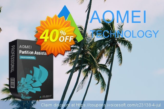 AOMEI Partition Assistant Pro discount 30% OFF, 2021 Mother Day offering sales. AOMEI Partition Assistant Professional stirring deals code 2021