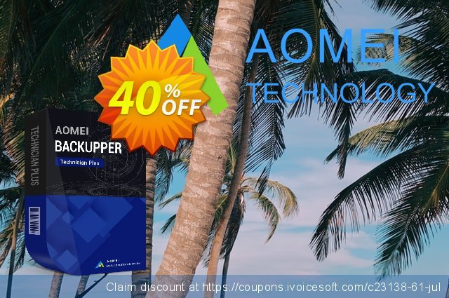 AOMEI Backupper Technician Plus discount 30% OFF, 2019 Fourth of July promo