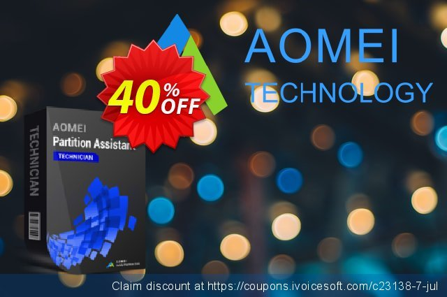 AOMEI Partition Assistant Technician discount 30% OFF, 2019 Halloween offering sales