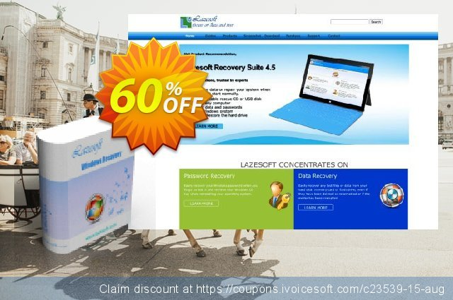 Lazesoft Windows Recovery Pro discount 60% OFF, 2020 Halloween offering sales