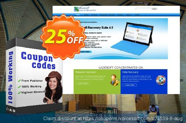 Lazesoft Recovery Suite Unlimited Edition discount 25% OFF, 2020 Working Day offering sales