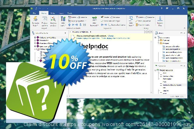 HelpNDoc Standard Edition (Named License) discount 10% OFF, 2020 Happy New Year promo sales
