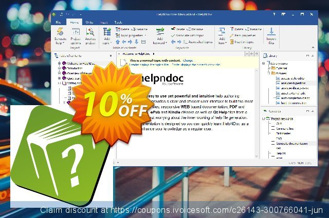 HelpNDoc Professional Edition (Worldwide License) discount 10% OFF, 2019 Xmas offering discount