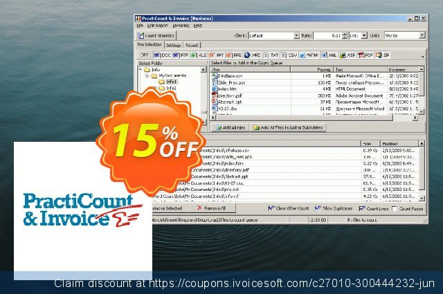 PractiCount and Invoice Business Edition Site License discount 15% OFF, 2021 Spring offering sales