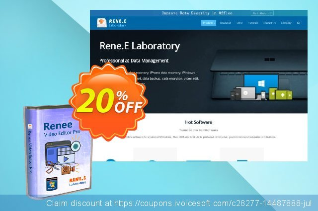 Renee Video Editor Pro (1 year) discount 20% OFF, 2020 Halloween offering deals