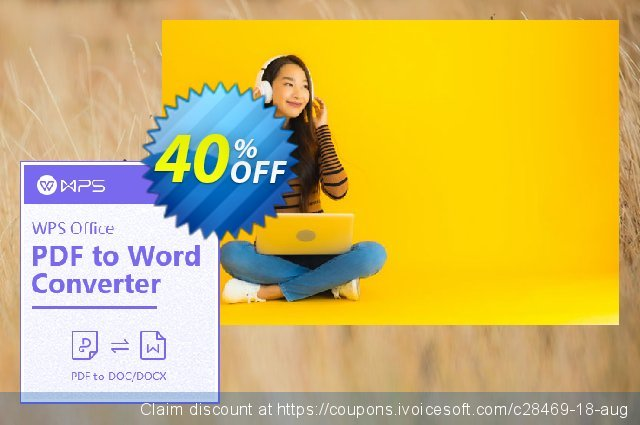 WPS PDF to Word Converter discount 40% OFF, 2021 Working Day promotions