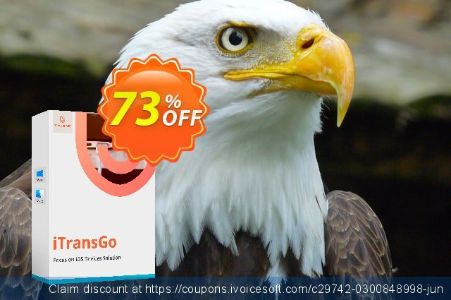 Tenorshare iTransGo (1 year license) discount 73% OFF, 2020 Black Friday offering sales