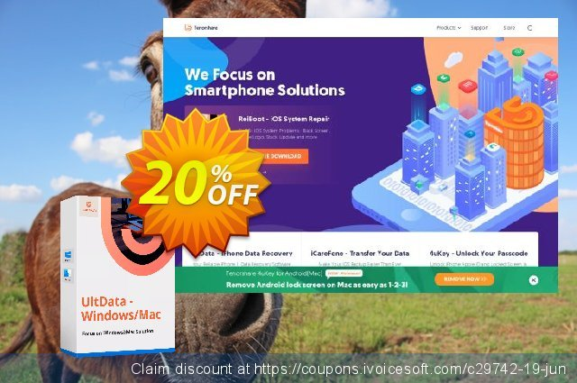 Tenorshare Card Data Recovery for Mac discount 20% OFF, 2020 Happy New Year offering sales