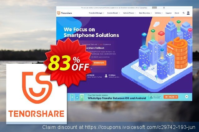 Tenorshare PDF Password Remover discount 83% OFF, 2020 Happy New Year offering sales