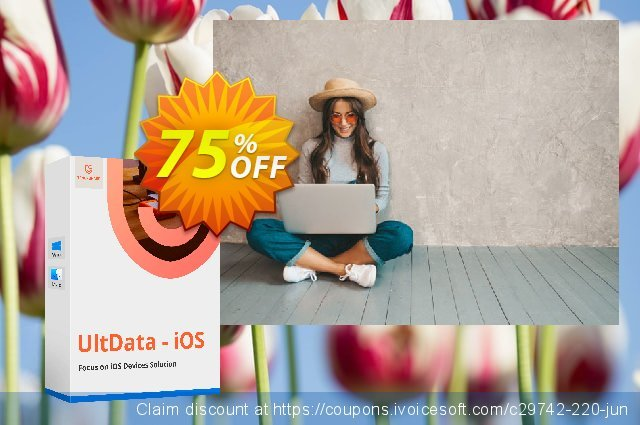 Tenorshare UltData for Windows discount 75% OFF, 2020 January promotions