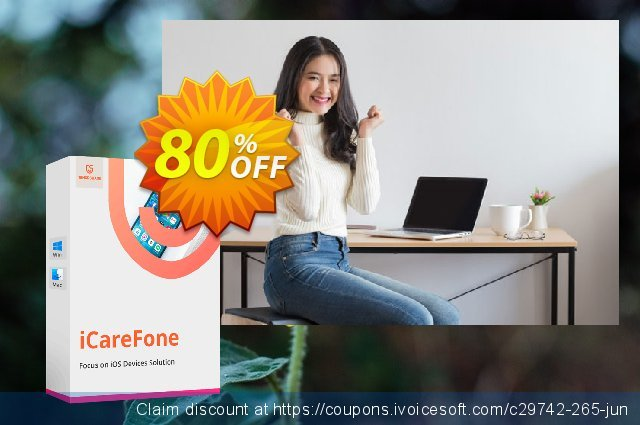 Tenorshare iCareFone for Mac discount 80% OFF, 2021 Mother's Day offering sales. 80% OFF Tenorshare iCareFone for Mac, verified