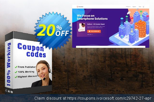 Tenorshare Windows Password Reset Ultimate discount 20% OFF, 2020 January offering discount