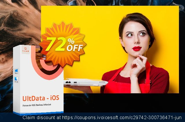 Tenorshare UltData for iOS discount 72% OFF, 2020 Halloween promo sales