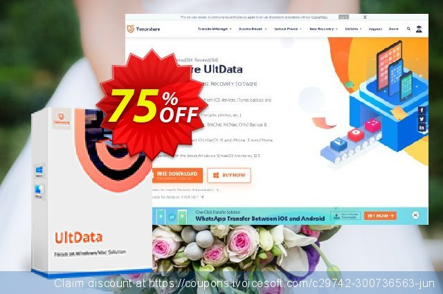 Tenorshare UltData for iOS/Mac discount 75% OFF, 2020 College Student deals discount