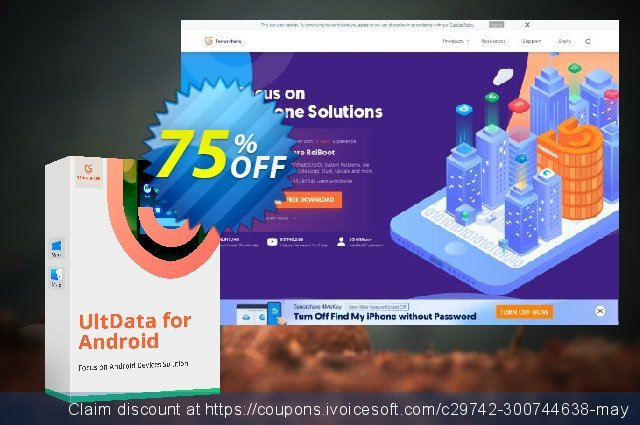 Tenorshare UltData for Android (Mac) discount 20% OFF, 2019 Summer deals