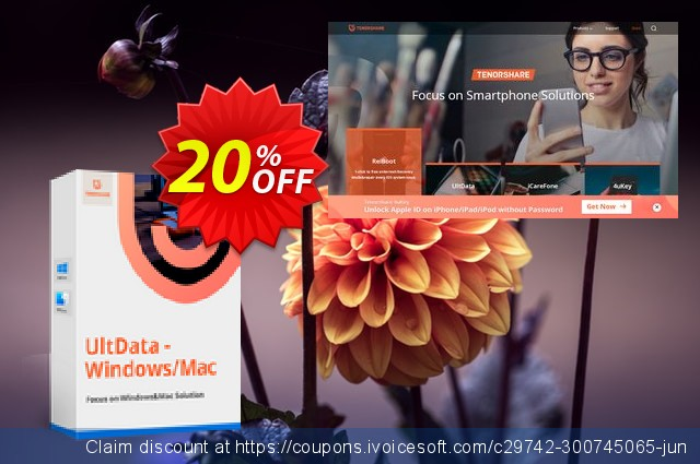 Tenorshare UltData - Windows Data Recovery 优秀的 产品销售 软件截图