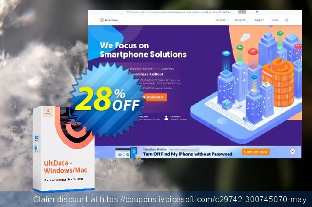 Tenorshare UltData  Windows Data Recovery (2-5 PCs) discount 28% OFF, 2020 Back to School Promos discounts