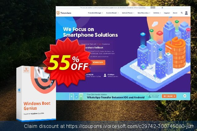 Tenorshare Windows Boot Genius (Unlimited PCs) discount 55% OFF, 2020 Exclusive Student deals promo