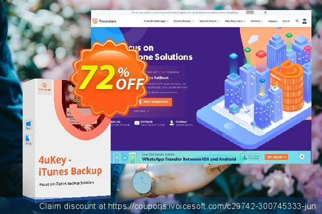 Tenorshare 4uKey - iTunes Backup Lifetime discount 81% OFF, 2019 Xmas discounts