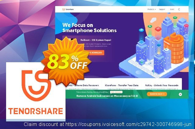 Tenorshare PDF Password Remover - Family Pack discount 83% OFF, 2019 Xmas offering sales