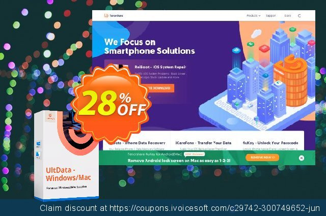 Tenorshare Data Recover Enterprise (Family Pack) discount 28% OFF, 2020 New Year offering sales