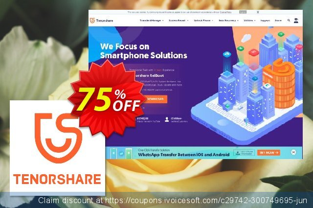 Get 20% OFF Tenorshare Data Backup-Family Pack offering discount