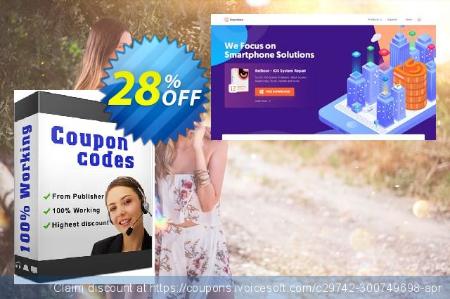 Tenorshare Data Recover WinPe (Family Pack) discount 28% OFF, 2020 Happy New Year deals