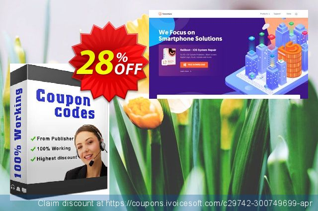 Tenorshare Data Recover WinPe (Unlimited PCs) discount 28% OFF, 2020 New Year's Weekend offer