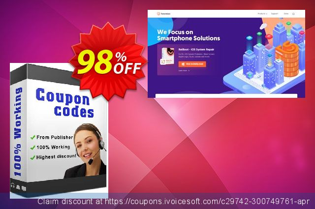 Tenorshare Video Converter-Family Pack discount 98% OFF, 2020 Happy New Year promo sales