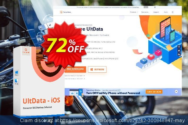 Tenorshare UltData for iOS (1 year license) 令人震惊的 产品销售 软件截图