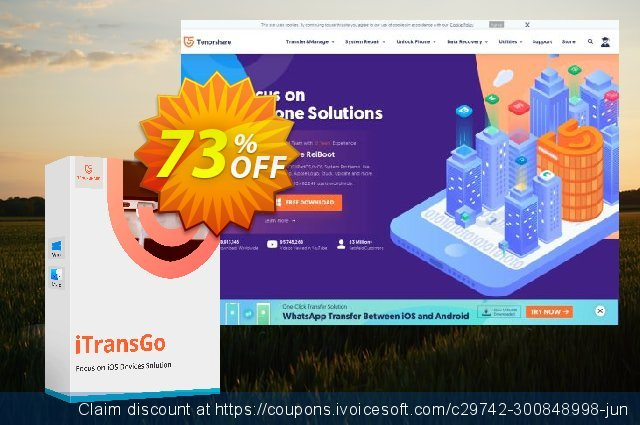Tenorshare iTransGo discount 73% OFF, 2020 Happy New Year promo sales