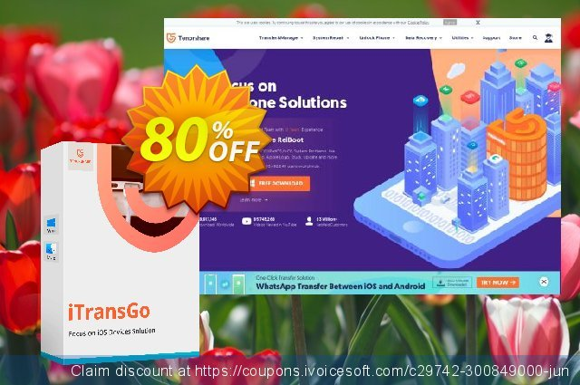 Tenorshare iTransGo (6-10 Devices) discount 80% OFF, 2021 All Hallows' Eve promotions. discount