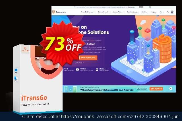 Tenorshare iTransGo for Mac discount 73% OFF, 2020 Halloween offering deals